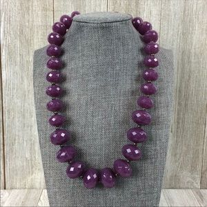 Avon Faceted Purple Beaded Necklace